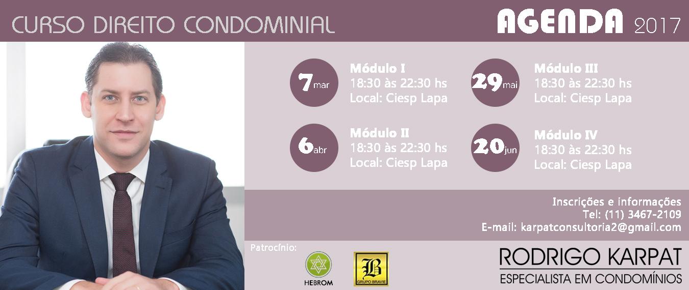 Cursos Direito Condominial - Dr. Rodrigo Karpat